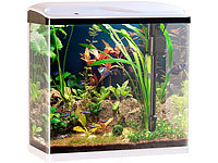 Sweetypet Nano-Aquarium-Komplett-Set mit LED-Beleuchtung, Pumpe & Filter, 40 l